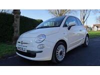 FIAT 500 LOUNGE - 12 MONTHS WARRANTY 2013 Manual 33000 Petrol White Petrol