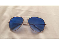RayBan Aviator Sunglasses Sky Blue Gradient