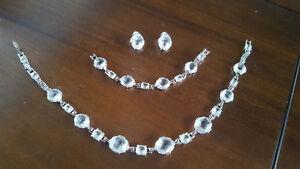 Swarovski crystal bridal set