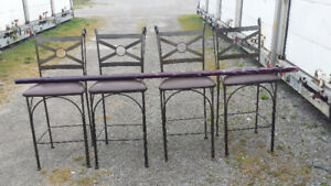 4 Metal Bar Stools/Chairs