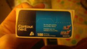 Contour next glucose test strip 100 for 40$