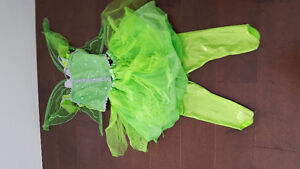 4 pièce Tinker Bell costume, size 6