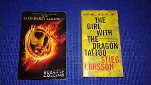 2 BOOKS:  The Hunger Games. The Girl with the Dragon Tatoo