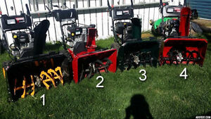 Craftsman snow blowers for sale!  LIKE NEW!!