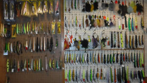 NEW AND USED PIKE AND MUSKY LURES AND BUCKTAIL SPINNERS