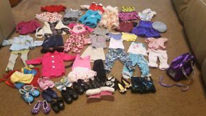 "18"" doll clothing lot"