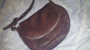 LUCKY italian leather purple purse