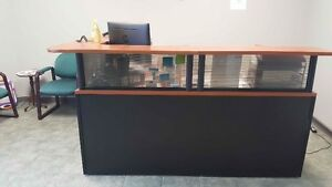 Reception desk and 4 chairs----$700 O.B.O