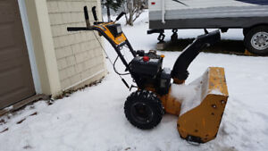 """10HP Brute Snowblower, 28"""" cut, ready for snow. $350 firm."""