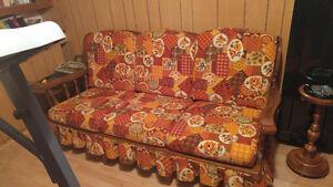 Fauteuil et divan vintage