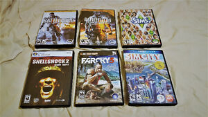 6 PC Games MINT condition (ONLY USED ONCE)