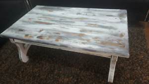 Antique wood style coffee table
