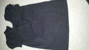 3t black sparkly sweater dress pockets