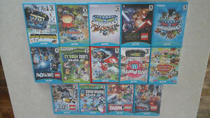 Nintendo WiiU rarely used games