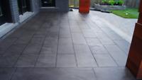 Concrete resurfacing -jewel Stone finish concrete.  647-878-0466