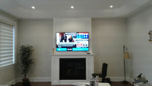 Tv wall mount installation just call for same day service 50$