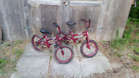 matching children's bikes with training wheels