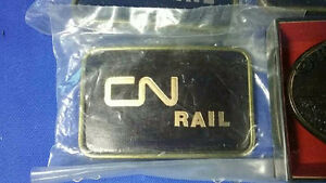 RARE VINTAGE CN RAIL BELT BUCKLE NEW MADE IN CANADA