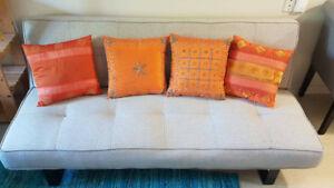 4 Embroidered Sofa Cushions