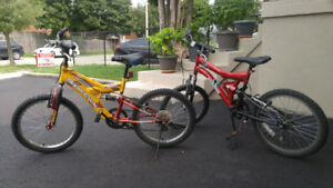 TWO USED   19'' WHEEL BIKES FOR SALE