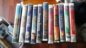 11 DISNEY VHS MOVIES, SOME HARD TO FIND