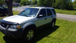 2007 Ford Escape 4WD, NEW MVI June 2018