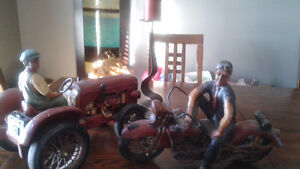 Indian / Harley Motorcycle Statue Model