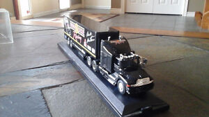 Die cast truck and winston cup trading cards