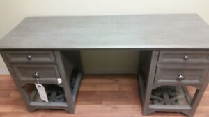 Churchill Pewter desk (rustic grey) wooden desk