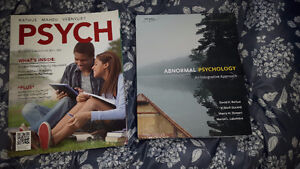 First year and second year college Psychology books