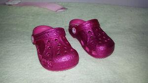 Baby Girl Size 6/7 Crocs