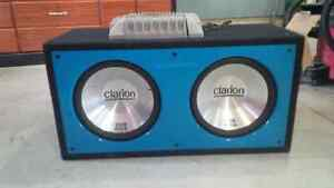 Subwoofers and amp for sale