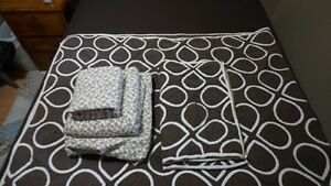 double flannel sheet set and bedspread w/shams