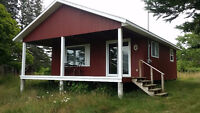 Cottage for sale.  24 X24 plus roof extends 8ft over deck