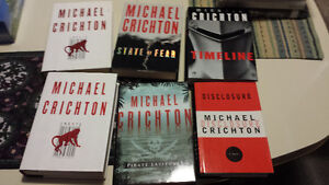 7 Michael Crichton Hardcovers. Excellent Condition.