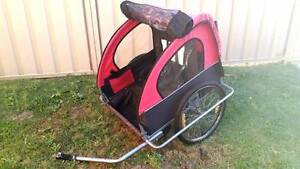 Bike Trailer - 2 seats with belts, all weather covers and pocket Ocean Reef Joondalup Area Preview