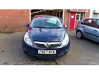 VAUXHALL CORSA 1.2 LIFE 5 DOOR AIR CON LOW MILES ONLY £18 WEEK P/LOAN 2007