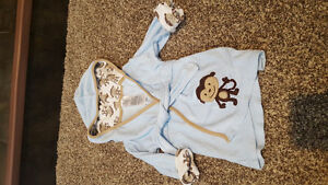 Baby bath robe and towels