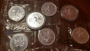 Canadian coins 1oz Silver Canadian Maple