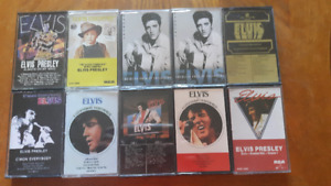 LOT OF 10 ELVIS CASSETTE TAPES IN EXCELLENT CONDITION