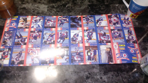 3 1994-95 Windsor Spitfires Full Team Uncut Sheets of Cards