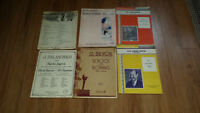 Antique and Vintage Violin & Piano Music Charts LOOK!