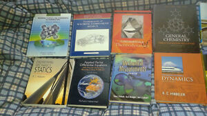 Engineering, Science(petrucci), Calculus, English Textbooks, C++