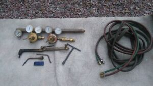 Various oxy acetylene welding supplies
