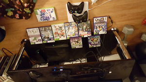 X box 360 with kinect, 2 controllers and all games included