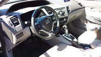 "2012 Honda Civic CE black Sedan with sunroof and 16"" wheels"