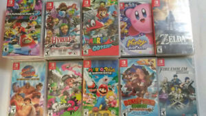Brand New/ Sealed Nintendo Switch Games $15 to $70