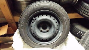 195 55 15 Goodyear Nordic winter tires and rims