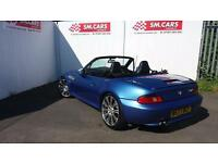 2000 W BMW Z3 2.0 6 CYLINDER ROADSTER IN ESTORIL BLUE,M3 WHEELS.LOW MILEAGE .