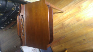 Antique small hall stand / letter desk